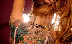 Beautiful back and neck tattoo redhead female HD Wallpaper - http://www.hdwallpaperuniverse.com/beautiful-back-neck-tattoo-redhead-female-hd-wallpaper/