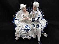 Blue White Victorian Figurines