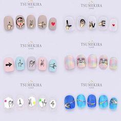 Pin by Imsorich on Nails in 2019 K Pop Nails, Love Nails, Pretty Nails, Korea Nail Art, Self Nail, Tie Dye Nails, Korean Nails, Nails First, Nail Patterns