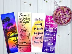 Printable bookmark printable quote bookmark gift for her image 4 Watercolor Bookmarks, Quotes For Book Lovers, Printable Quotes, Printable Bookmarks, Gifts For Readers, Gifts For Her, Printables, Etsy, Image