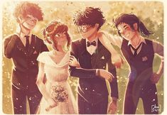 Lily and James Potter's Wedding photo.❤️ - - - In all of this years I never did an illustration on Lily and James's wedding photo Harry… Arte Do Harry Potter, Harry Potter Comics, Slytherin Harry Potter, Harry Potter Drawings, Harry Potter Anime, Harry Potter Universal, Harry Potter Memes, Harry Potter World, Potter Facts