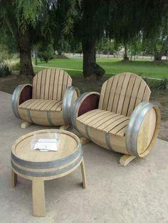 I want these barrels outdoor set