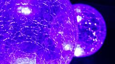 Lustre effect blue (duo) caused by application of RGB LED Lighting onto crystal glass balls. Glass Ball, Crystal Ball, Luster, Balls, Led, Crystals, Lighting, Light Fixtures, Crystal