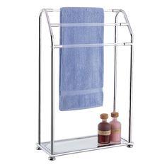 Organize It All 62443 Acrylic Three Bar Towel Rack with Bottom Shelf - Fixture Universe- $57.00