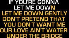 Adele Water under the brigde karaoke lyrics