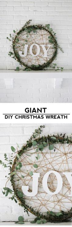 Giant DIY Christmas Wreath