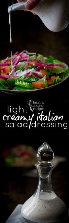 Light Creamy Italian Salad Dressing