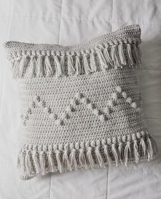 Free Crochet Pattern for The Funky Fringe Pillow