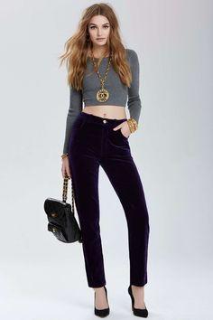Vintage Chanel Amiens Velvet Pants