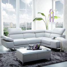 1717  - Italian Leather Sectional