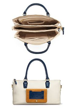 An organize-it-all, ladylike purse with 15 pockets