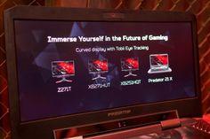 Acer Predator 21X Im Inneren des Predator 21X stecken zwei Geforce GTX 1080 und ein Kaby-Lake-Prozessor. Bisher hat Intel nur Y- und U-Modelle veröffentlicht, die leistungsstarken H-Varianten erscheinen im Januar 2017 - was erklärt, warum das Acer-Notebook erst kommendes Jahr verfügbar ist. Die weitere Ausstattung umfasst vier DDR4-Speicherbänke für 64 GByte RAM, mehrere M.2-Slots für SSDs, die per PCIe 3.0 x4 angebunden sind, und einen Festplatten-Schacht.