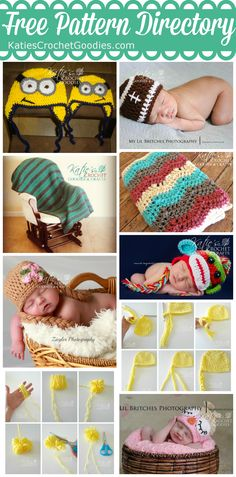 Free Crochet Pattern Directory for Katie's Crochet Goodies  Crafts
