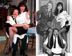 ESSEX-born actress Vicki Michelle came to fame in the as saucy waitress Yvette Carte-Blanche on the BBC sitcom 'Allo 'Allo! British Tv Comedies, British Comedy, British Actors, Vicki Michelle, Nylons, Drag Queen Outfits, Celebrities In Stockings, Bbc Tv Shows, Vintage Television