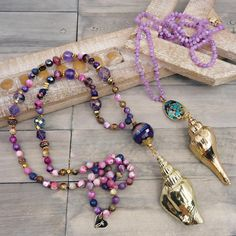 June Designer Spotlight with Zoe Witcomb | Halcraft Collection - Owners & Creators of Bead Gallery™ Diy Jewelry Making, Bracelet Making, Semi Precious Beads, Bead Shop, Beach Jewelry, Stone Beads, Amethyst, Handmade Jewelry, Beaded Necklace