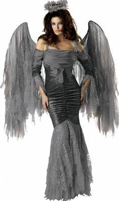 womens gothic fallen angel Halloween costume