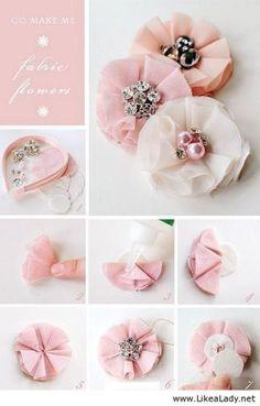 DIY Fabric Flowers   DIY & Crafts