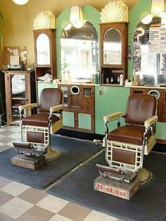 SIXTIES BARBERSHOP, HASN'T CHANGED MUCH FROM THE FIFTIES