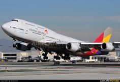 Asiana Airlines Boeing 747-48E departing LAX https://jetspectre.com/used-jets-for-sale/