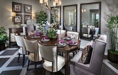 Would you like to pull up a SEAT and have a bite to EAT in this dining room?