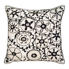 Black & White Sommers Suzani Pillow