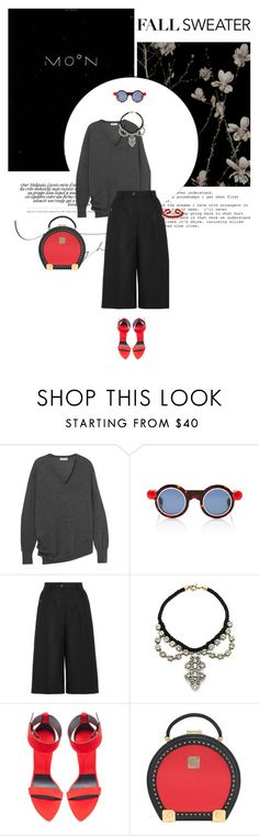 """Untitled"" by tamara-40 ❤ liked on Polyvore featuring Balenciaga, Paule Ka, MM6 Maison Margiela, Saks Fifth Avenue, Zara, MCM, BaubleBar, 2016 and fallsweaters"