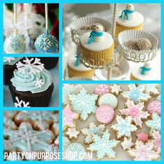 Cookies and Cupcakes are perfect! winter onederland party ideas