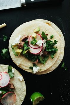 Flank Steak Tacos:  Ashley Rodriguez of Not Without Salt presents an almost-too-easy steak taco recipe that you'll want to make again and again.