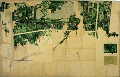 Schifano Central Park East, 1964, smalto su carta intelata, 127 x 200 cm,