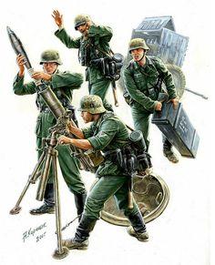 WEHRMACHT - Serventi di Mortaio da 120mm Granatwerfer 42, Battaglia di Kursk. - Andrey Karashchuk