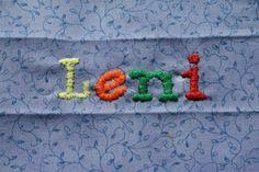 Buchstaben aussticken