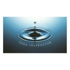 Blue Water Drop Ripple & OM Symbol YOGA Instructor Business Card