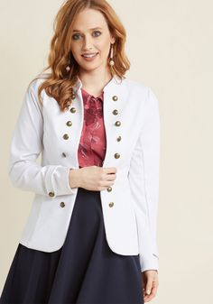 Glam Believer Knit Jacket in White