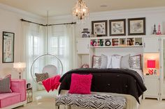 Teenage Girl Bedroom Ideas: Modern and Girly: Teenage Girl Bedroom Ideas Modern And Girly With Hanging Lamp ~ basjee.com Bathroom Inspiration