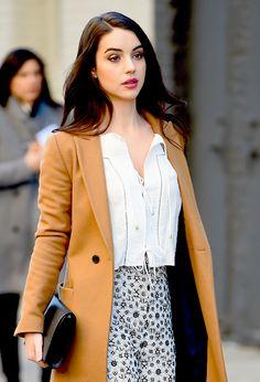 adelaide kane and New York Fashion Week Bild