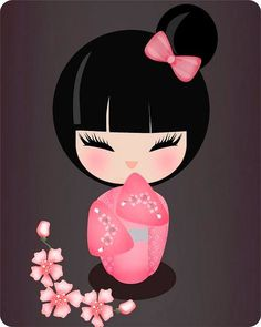 C Steele Collection Porcelain China Kawai Japan, Doll Tattoo, Geisha Art, Thinking Day, Kokeshi Dolls, Anime Chibi, Asian Art, Japanese Art, Cute Drawings