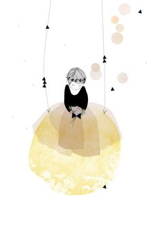 """illustration """"My Lovely Thing""""  / Ilustración llena de delicadeza """"My Lovely Thing""""."""