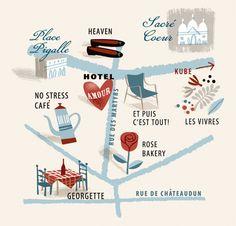 Pigalle Map, Paris ©Tania Willis