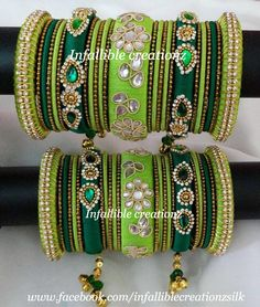 "To order Whatsapp +91 9791090024 For more collections visit ""www.facebook.com/infalliblecreationzsilk"".      Silk Thread jewelry, silk thread bangles, silk thread bridal bangles, wedding bangles, silk thread bangles wholesale, engagement bangles, Grand silk thread bangles, bangles, seemandham bangles, return gifts, party wear bangles, gifts for girls, gifts for women, party wear bangles, silk Thread jewelry, silk thread jewellery, handmade jewelry, infallible creationz,"