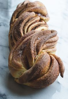 Save some of that holiday nog to make a loaf of this Cinnamon Nog Twist Bread! This will make the whole house smell festive. Cinnamon Twists, Delicious Desserts, Yummy Food, Bagels, Sweet Bread, Crumpets, Pain, Bread Recipes, Biscuits