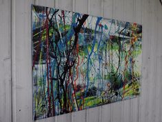 Bild abstrakt Acryl Bilder modern Gemälde XL Kunst Original Deko Wandbild