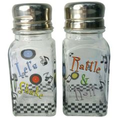 Westland Giftware A Touch of Glass Let?s Shake Salt and Pepper Shaker Set, 4-Inch by Westland Giftware. $7.90. Material: glass. Fun and cute styling. High quality. Functional. Beautifully decaled designs. Westland Giftware A Touch of Glass Let's Shake Salt and Pepper Shaker Set, 4-inch. These shakers provide a hint of sophistication to any meal.. Save 12%!