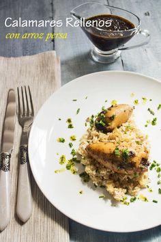 KOOKING: Calamares rellenos con arroz persa