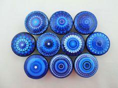 Set of 10 Royal Blue Mandala Cabinet Knobs - - Amazon.com