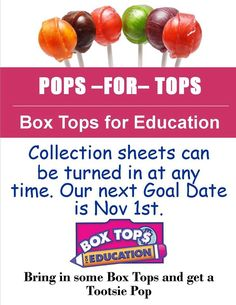 Love this cute inexpensive collection idea! Box tops for education Pta School, School Fundraisers, School Ideas, School Stuff, School Events, Daycare Ideas, Box Tops Contest, Student Council, Parents As Teachers