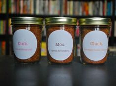 DIY BBQ Rubs - Oink, Moo, Cluck.