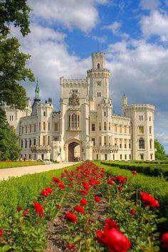 At the Hluboka Castle in Czech Republic.