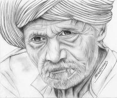 بصمة زمن في وجه رجل – أكرم عثمان من رسوماتي بقلم الرصاص (فكرة منقولة)