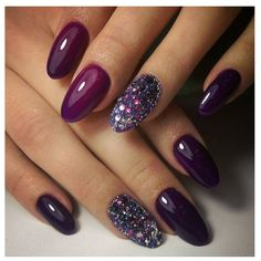 Party nails in purple