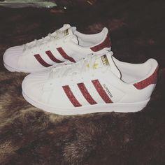 Adidas superstar maroon burgundy red